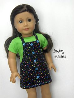 18 inch doll clothes AG doll clothes Girl by Unendingtreasures.  Made with the Faux Button Jumper pattern, available through PixieFaire.com  http://www.pixiefaire.com/products/faux-button-jumper-18-doll-clothes