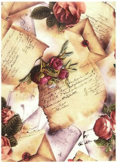 GBP - Rice Paper For Decoupage Scrapbooking Sheet Craft Letters With Roses & Garden Decoupage Vintage, Vintage Crafts, Decoupage Tissue Paper, Decoupage Glass, Decoupage Art, Retro Vintage, Vintage Love, Scrapbook Paper Crafts, Paper Crafting