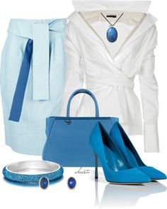 """""""Spring Blues"""" by christa72 on Polyvore"""