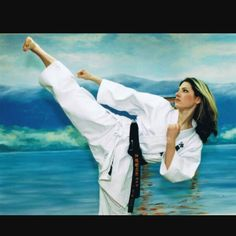Throwback from my Tae Kwon Do days..   - Katheryn Winnick from Vikings