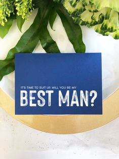 Navy Asking Best Man Proposal Wedding Card, Suit Up Invite, Asking Groomsman, Gift Best Man Invitation, Modern Cards From Bride and Groom Asking Groomsmen, Groomsmen Gift Box, Groomsman Gifts, Bridal Shower Invitations, Wedding Stationery, Wedding Day Cards, Stand By You, Wedding Officiant, Anniversary Parties