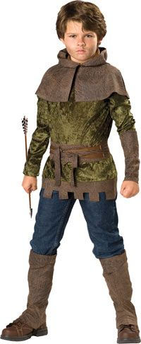 Robin Hood - steals from the rich, gives to the poor. Amazing with a bow and arrow. This Robin Hood costume for boys is a perfect choice for World Book Day or Book Character dress up!