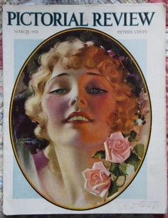 Rare-Vintage-March-1926-Rolf-Armstrong-Pictorial-Review-COVER-ONLY-Deco-Beauty
