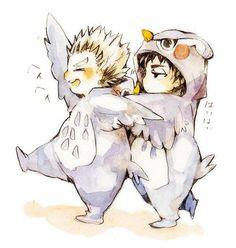 Bokuto and Akaashi Owls