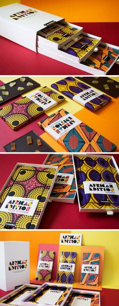 Leonidas African Edition (Student Project) chocolate packaging by Emma Thibault
