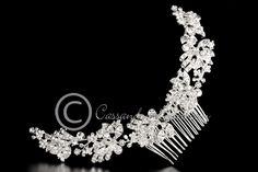 Bridal Back Comb of Marquise Jewels
