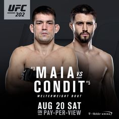 nice Carlos Condit combating Demian Maia at UFC 202 (Conor McGregor vs Nate Diaz card)