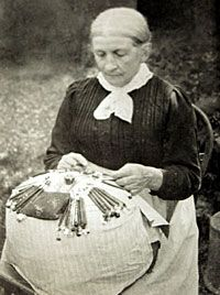 """""""Dear Madame, Owing to the cold winds of adversity most of the Village Lace-makers are practically destitute and in dire need of immediate help. Should be able to buy but one piece of lace it would be a good deed and help to keep the fire burning in some poor Cottager's home. With apologies for troubling you in these trying times, Yours truely, (Mrs) H. Armstrong 1920"""""""