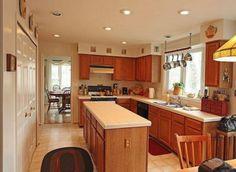 Thin kitchen island