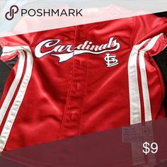 9f4d2d405 Cardinals Jersey Shirt Embroidered mesh material. 100 percent polyester  Genuine Merchandise Shirts   Tops Button Down Shirts