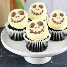 Easy Jack Skellington Cupcakes Recipe for Halloween Gluten Free