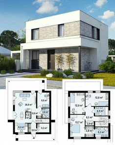 Krisk's media content and analytics Sims House Plans, House Layout Plans, Duplex House Plans, Dream House Plans, Small House Plans, House Floor Plans, House Front Design, Small House Design, Modern House Design