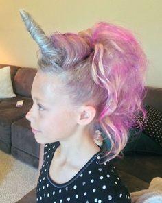 Crazy Hair Day Ideas For Girls & Boys Unicorn or my little pony hair for crazy hair day.Unicorn or my little pony hair for crazy hair day. Crazy Hair Day At School, Crazy Hair Days, Crazy Hair For Kids, Crazy Hair Day Girls, Hair Girls, Crazy Girls, Girls Life, Short Hair For Kids, Wacky Hair Days
