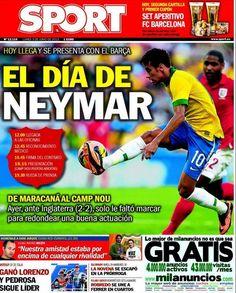 46db41f309 Capa do jornal Sport  O dia de Neymar (Reprodução) Neymar