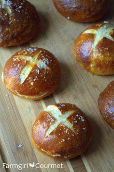 Pretzel Slider Buns from @Christie Moffatt Moffatt Moffatt Moffatt nolen Gourmet