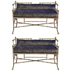 Pair of Bamboo Style Banquettes | From a unique collection of antique and modern sofas at https://www.1stdibs.com/furniture/seating/sofas/