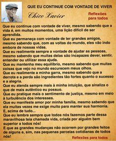 Clique na imagem e encontre reflexões, orações e outras mensagens de Chico Xavier...  Siga Reflexões Para Todos