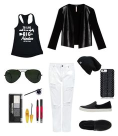 """🎶Concert☑️look 🙌🏼"" by aarzu-narsidani on Polyvore featuring Edit, Line Liam, UN United Nude, Max&Co., Maybelline, Savannah Hayes and Ray-Ban"