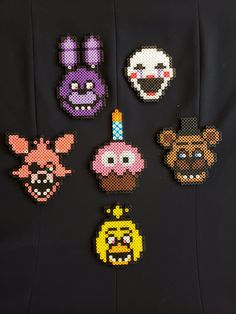 Five Nights at Freddy's Game 1 Perler Beads Easy Perler Bead Patterns, Perler Bead Templates, Diy Perler Beads, Pearler Bead Patterns, Perler Bead Art, Pearler Beads, Christmas Perler Beads, Melty Bead Patterns, Pixel Beads