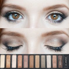 Eyeshadow tutorial of the gorgeous Urban Decay Naked 2 palette (actually W7 In The Buff, a nice dupe) <3
