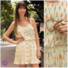 O plissado da um toque lindo e delicado ao vestido! #Vemprazas