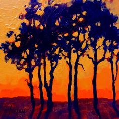 sunset trees - carol nelson.