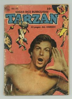 A cover gallery for the comic book Tarzan Lex Barker Tarzan, Jungle Jim's, Old Movie Posters, Nostalgia, Time Capsule, Old Movies, Pulp Fiction, Cover, Gay