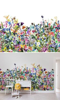WALLPAPER | WALL MURAL | INTERIOR DESIGN | KID'S ROOM | NURSERY | WALLPAPER FOR KIDS | INSPIRATION | PLAYFUL #interiordesign