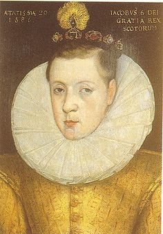 James I as a youth, son of Mary Queen of Scots, grandson of Margaret Tudor, sister of Henry VIII