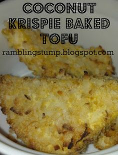 Coconut Krispie Baked Tofu. Recipe by: ramblingstump.blogspot.ca