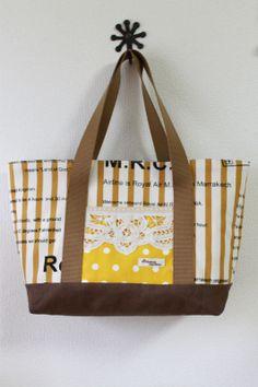 簡単!外ポケット付きのトートバッグの作り方 : ハンドメイドどっとこむ 無料レシピ紹介*オリジナルハンドメイド雑貨制作・販売