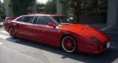 Ferrari F40 limousine for stylish ride in Buffalo Airport to Toronto downtown.