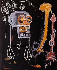 Jean Michel Basquiat. Untitled (Black Skull) of 1982