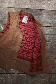 We carry this Vagrant Nobility Waxed Cotton Shooting Vest at Dovetail in Brown and Navy! Recently marked down, come in and get them while they last! Great for layering in all weather, and made right here in Chicago!