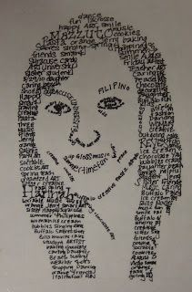 Art. Paper. Scissors. Glue!: Micrography Portrait