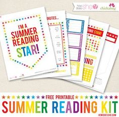 Loving this FREE printable summer reading kit ! Keep those little brains working all summer!