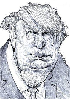 Donald Trump by Jan Op De Beeck-Belgium/Nov.,22,2012