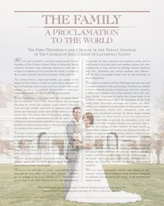 Free LDS Custom Family a Proclamation to the World. DIY Step by step & so easy.