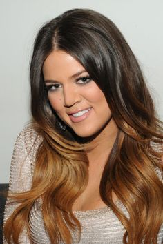 Khloe Kardashian ombre....this is my next hair style