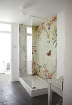 bathroom mosaic by deborah.teselle the dark floor is the best highlight for this spectacular fresk