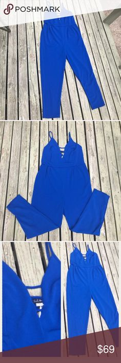 HOTSale♦️ Full Body Jumpsuit Womens Size 2X Royal Blue Jumpsuit Bandage Front. beach road trips shopping night out vacation traveling cruises after work attire hot ladies shirt formal evening cocktail fashion summer style resort  no trades and price firm GREAT HOLIDAY JUMPSUIT FOR PARTIES Pants Jumpsuits & Rompers