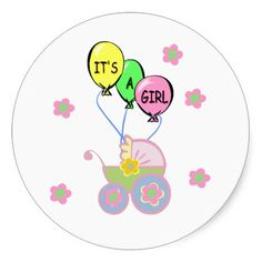 Its A Baby Girl Stickers and Gifts