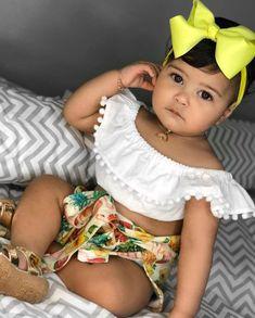 Cute Mixed Babies, Cute Babies, Cute Baby Girl, Baby Girl Newborn, Mexican Theme Baby Shower, Kids Girls, Baby Kids, Beautiful Black Babies, Baby Family