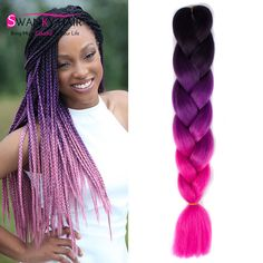 Honest Dream Ices Ombre Jumbo Braid Hair Synthetic Braiding Hair Extensions Two Tone 1b/blue Color 100g Crochet Hair 2 Pcs Jumbo Braids