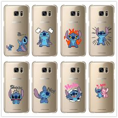 Cartoon Stitch Case for  Samsung Galaxy S3 Mini S6 Edge  S7Edge Note 2 3 4 5  Hard plast shell Phone Cover