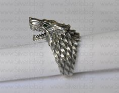 House+of+Stark+Ring.+Game+of+Thrones++by+SilverLabCreations,+€249.00
