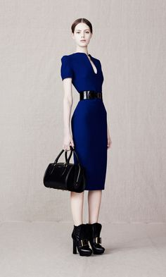 Shop the Fashion Looks | Alexander McQueen - Look 7 U-Neck pencil dress