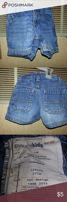 Childrens Genuine Kids 12 Months Jean Shorts Actual Pictures of  Childrens Genuine Kids 12 Months Jean Shorts         Make an OFFER - I will either say YES or make a counter offer.  Products are in Excellent Condition & Free of Dirt, Holes, Rips or Stains. Genuine Kids Bottoms Shorts