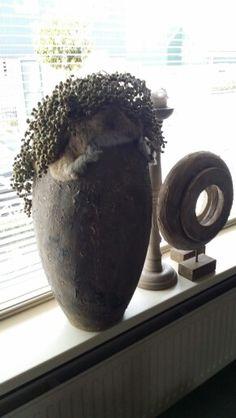 Gepimpte pot was zilver. 2 lagen muurvuller kalverf en een matte was