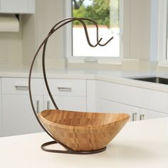This Bronze Wire Fruit Basket With Banana Hanger is a unique product ...